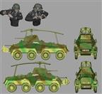 1/43 Resin Tank Models Collection