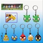 PVC Angry Bird Google-eyed Keychain Gifts