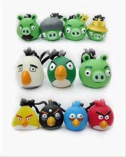 PVC Angry Bird Keychain Figurine Toy