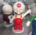 custom made big size fiberglass resin super mario bros statue factory